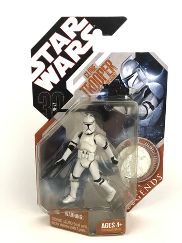 Star Wars 30th Anniversary Saga Legends Clone Trooper - Attack of The Clones (AOTC) - With Silver Coin