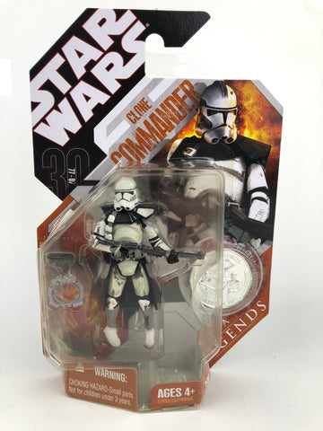 Star Wars 30th Anniversary Saga Legends Clone Commander - With Silver Coin