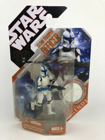 Star Wars 30th Anniversary Saga Legends Clone Trooper Officer (Blue) - With Silver Coin