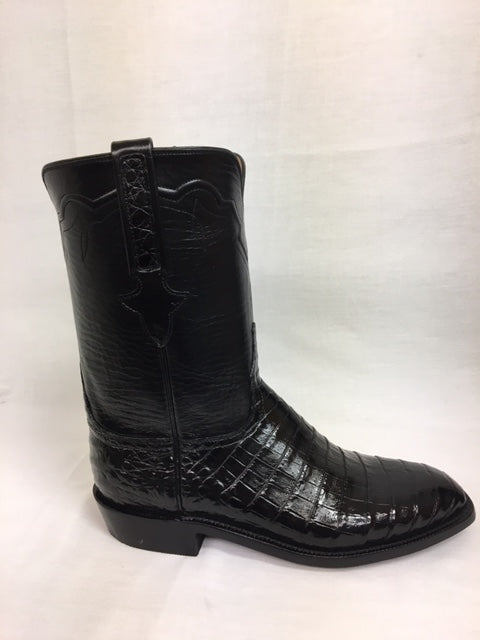 Lucchese - L3150 Black Ultra Belly Caiman Roper