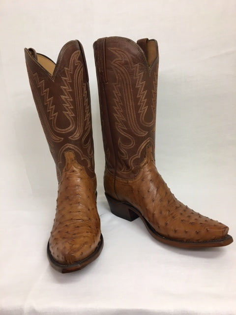 Lucchese - N1156.53 Barnwood Full Quill Ostrich