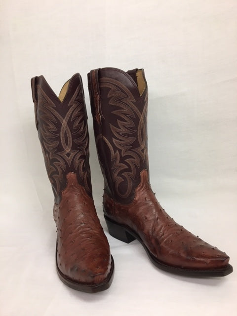 Lucchese - N1194.53 Mahogany Full Quill Ostrich
