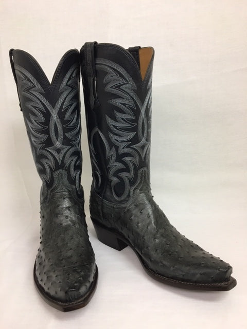 Lucchese - N1195.53 Anthracite Grey Full Quill Ostrich