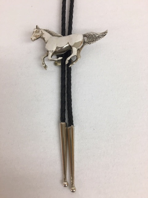 Sterling Silver - Galloping Mustang Bolo