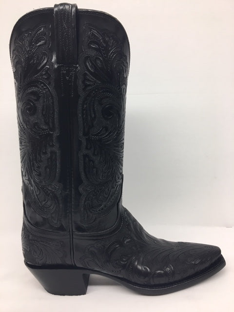 Lucchese - L4613.54 Black Hand Tooled