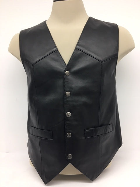 Scully - #507 Black Lambskin Leather Vest