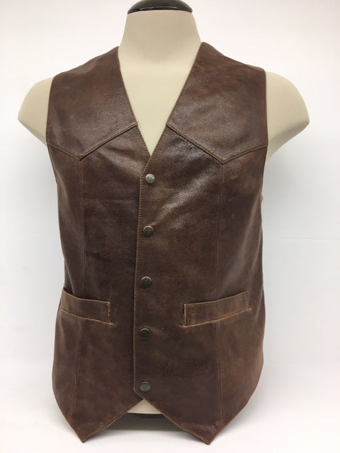 Scully - #1035 Brown Lambskin Leather Vest