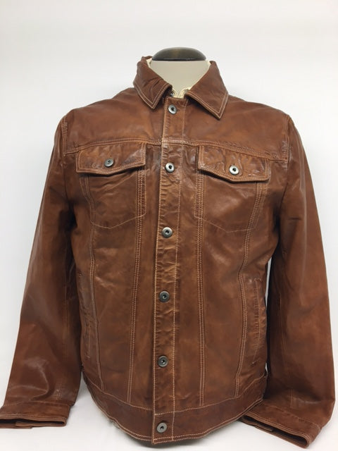 Scully - #1055 Tan Leather Jean Jacket