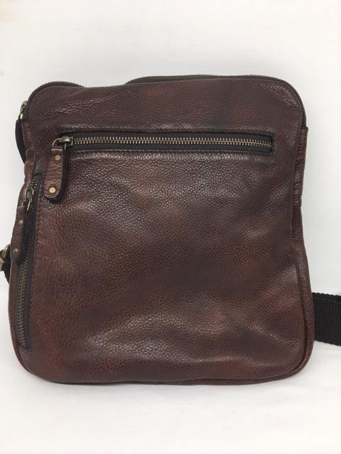 Scully - #924 Chocolate Brown Leather Crossbody