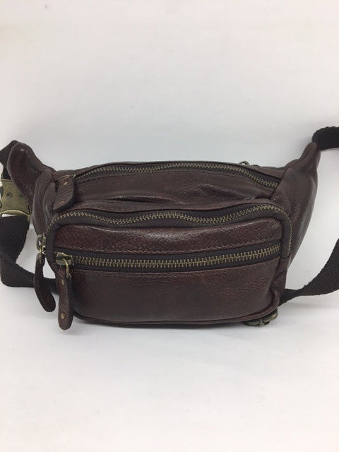 Scully - #927 Chocolate Brown Leather Fanny Pack