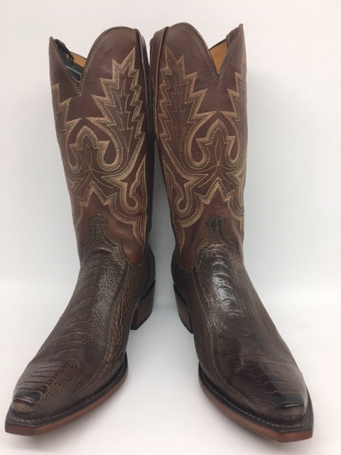 Lucchese - HL1008.53 Chocolate Ostrich Leg