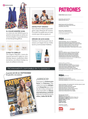 The Organic Republic en la revista Patrones extra