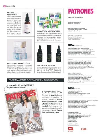 Patrones extra revista y the organic republic