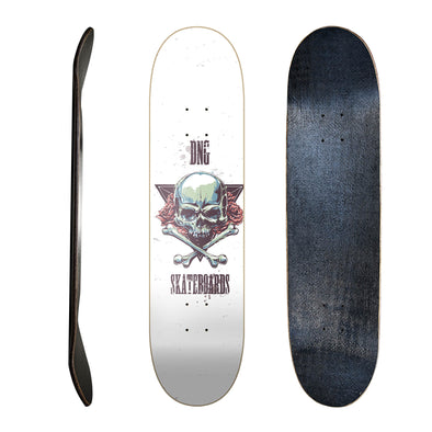 Shape Fibra de Carbono DNG Skateboards - Urban Skull