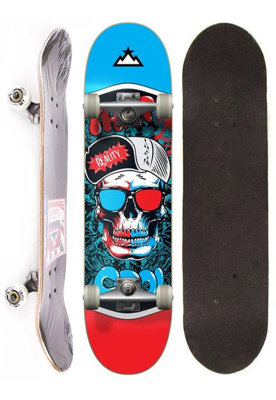 Skate Completo Semi Profissional Reality - SKULL 3D
