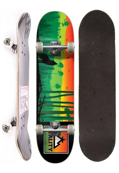 Skateboard Reality semi profissional completo street - Wolf