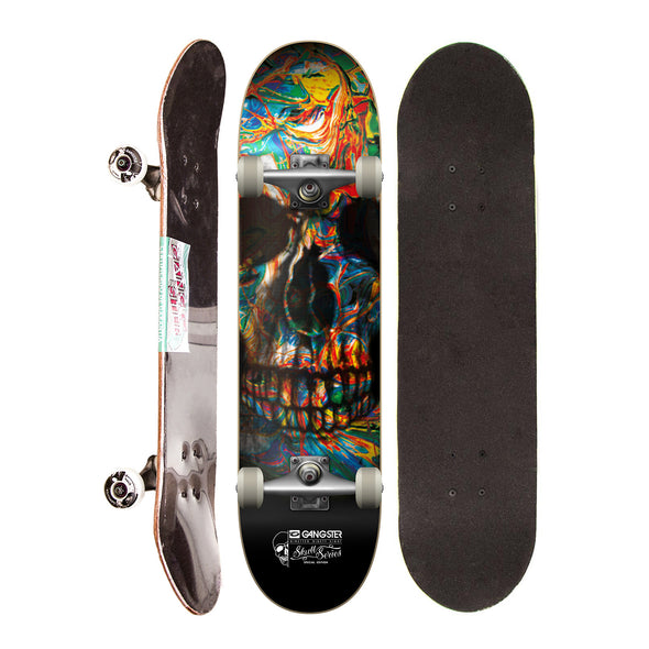 Skate Completo Semi Profissional Gangster Colors