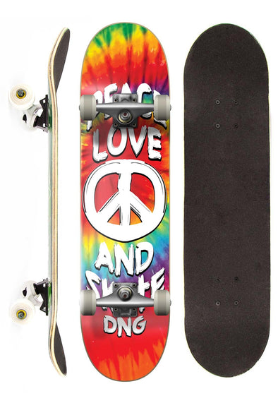 DNG Skateboards Skate Completo DNG Profissional Tye Dye Street 7,5""