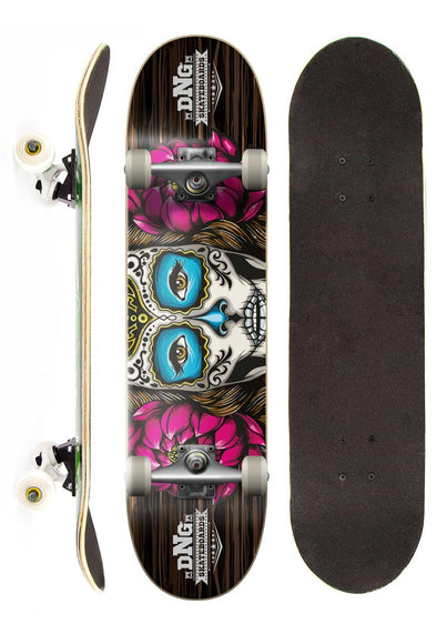DNG Skateboards Skate Completo DNG Profissional Lady Skull Street 7.5""