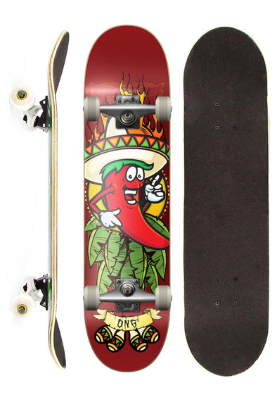 DNG Skateboards Skate Completo DNG Profissional Hot Spice Street 7,5""