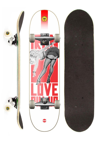 Iron Shape Skate Completo Iron Profissional Pin Up street 7,5""