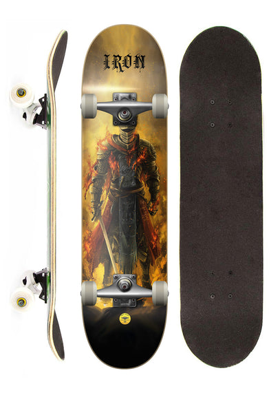 Iron Shape Skate Completo Iron Profissional Knight Fire street 7,5""