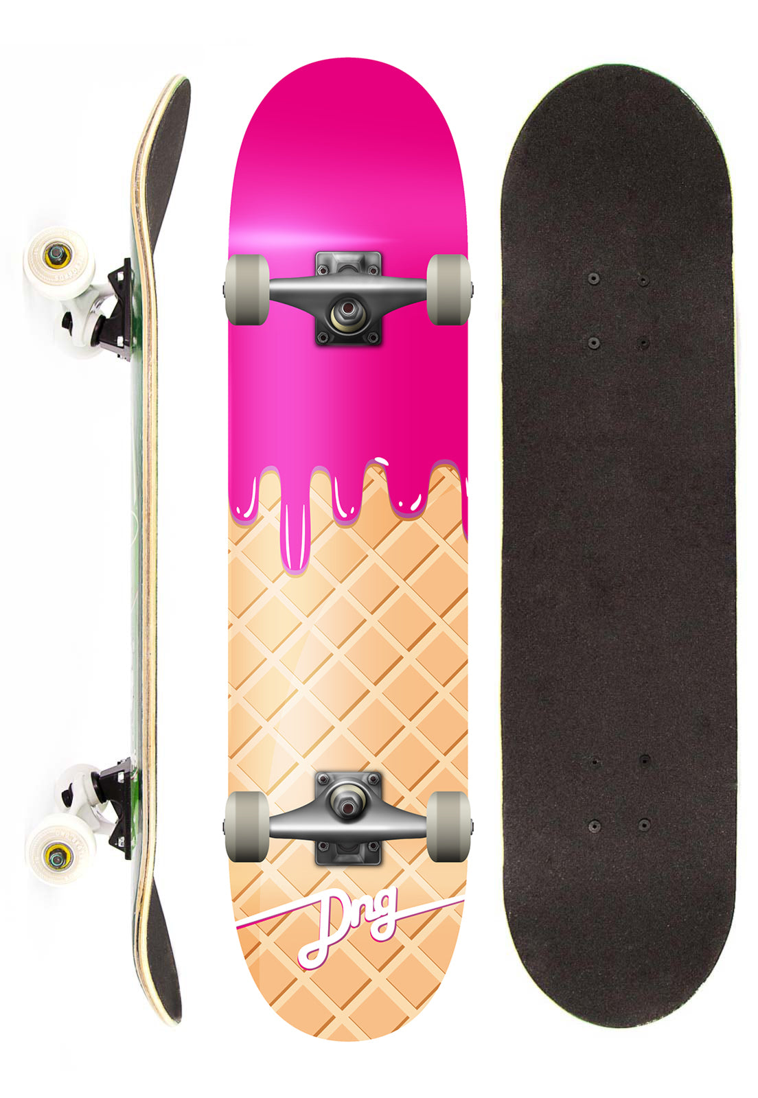 13c52bfaa319c Dng Skateboards Skate Completo DNG Profissional Ice Cream Rosa – Skate  Hangar