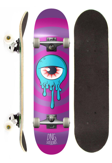 Dng Skateboards Skate Completo DNG Profissional See Street Roxo 7,5""