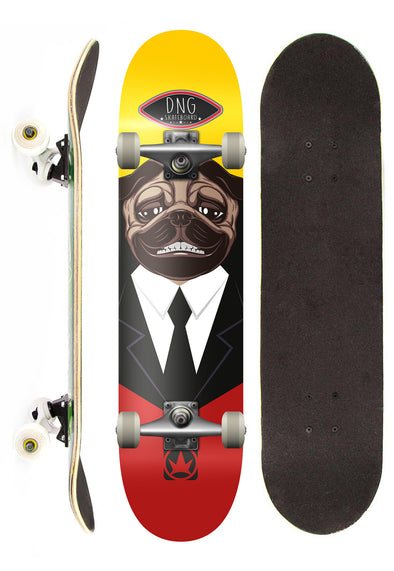 DNG Skateboards Skate Completo DNG Profissional The Pug Street 7,5""