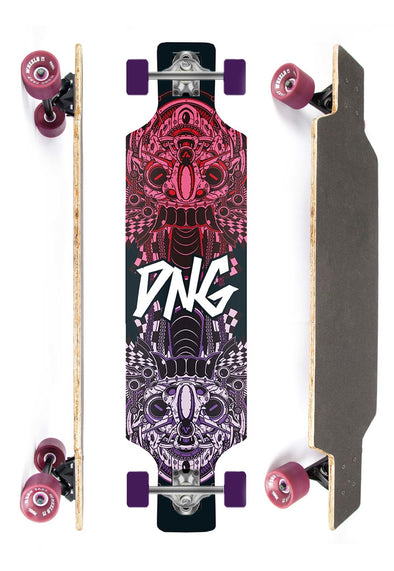 DNG SKATEBOARDS LONGBOARD GRAMP FLATCH DNG PRETO