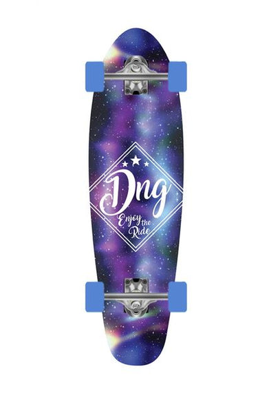 DNG SKATEBOARDS MINI CRUISER RIP RIDER DNG GALAXY ROXO