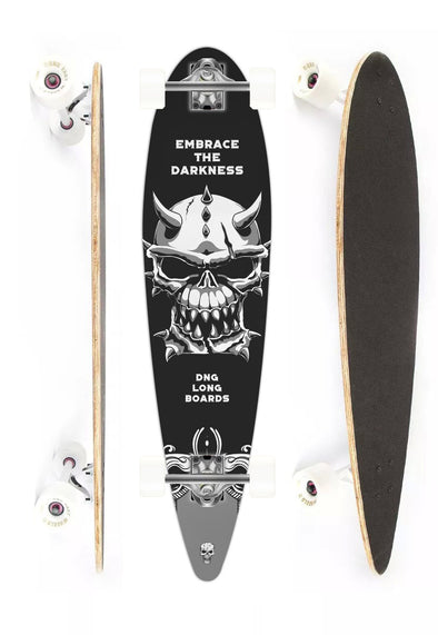 DNG SKATEBOARDS LONGBOARD MAKAHA EMBRACE THE DARKNESS PRETO
