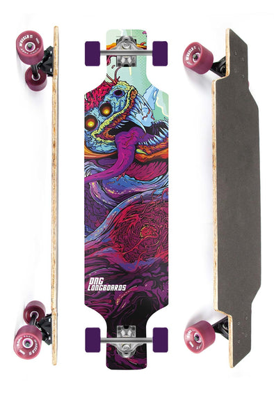 DNG SKATEBOARDS LONGBOARD GRAMP MONSTER DNG ROXO