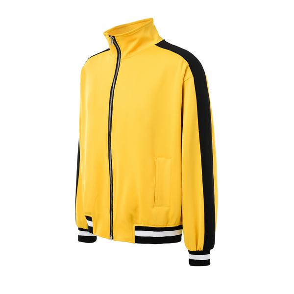 Retro Side Stripe Track Top - Yellow and Black