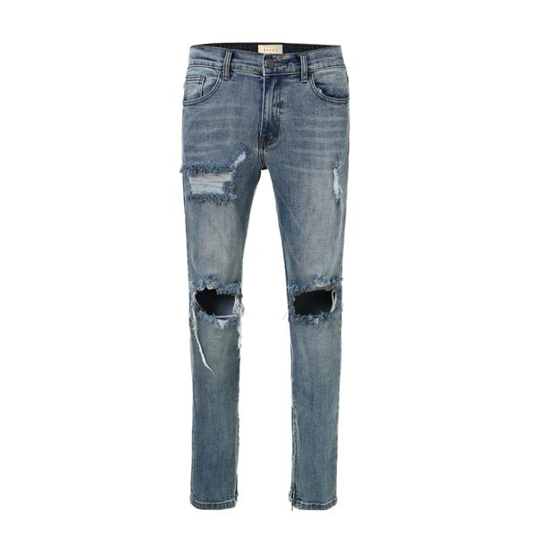 Distressed Denim Jeans - Blue