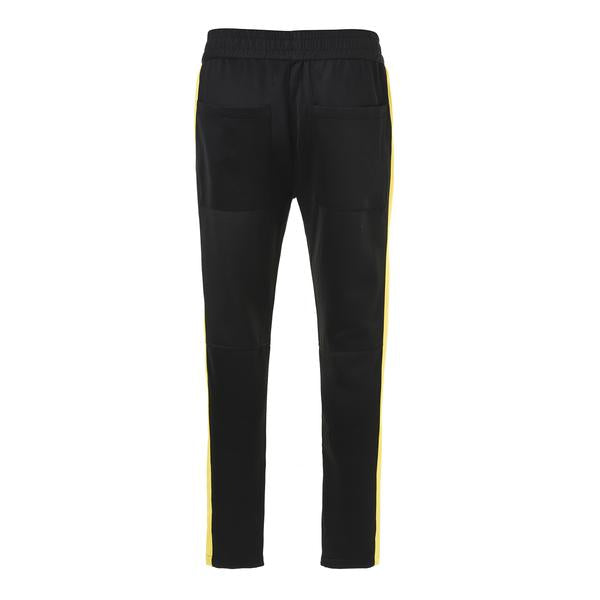 Retro Side Stripe Pants - Black and Yellow