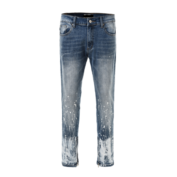 Paint Splatter Denim - Blue