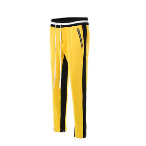 Retro Side Stripe Pants - Yellow and Black