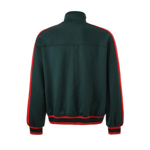 Retro Side Stripe Track Top - Green and Red