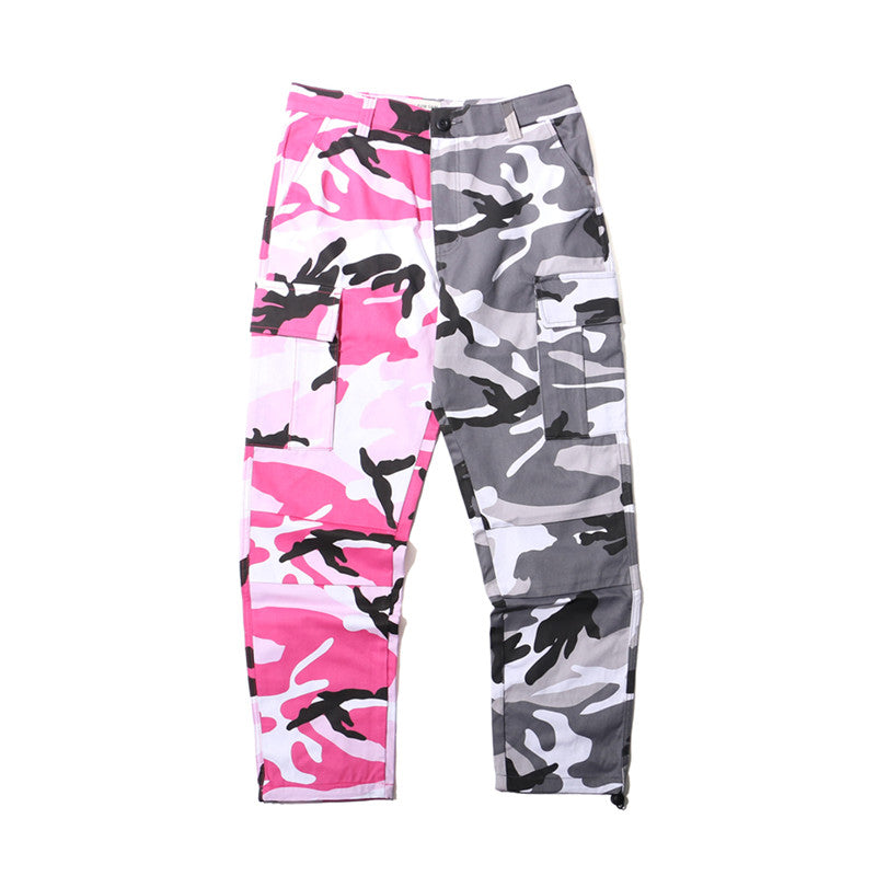 Half and Half Camouflage Pants