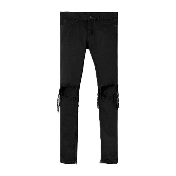 Destroyed Denim Jeans - Black