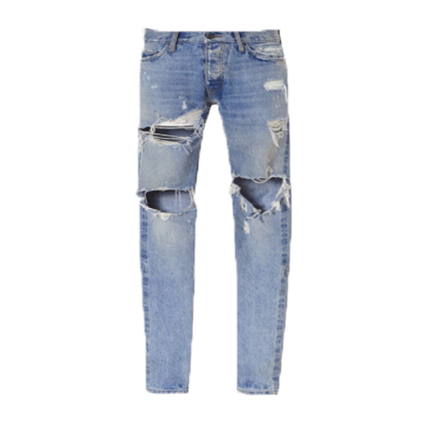 Hand Distressed Denim - Blue
