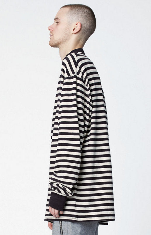 Pullover Stripe Long line Top