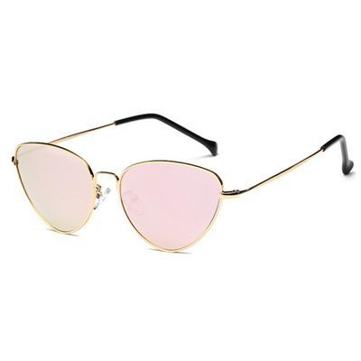 Cat Eye Tinted Lens Sunglasses