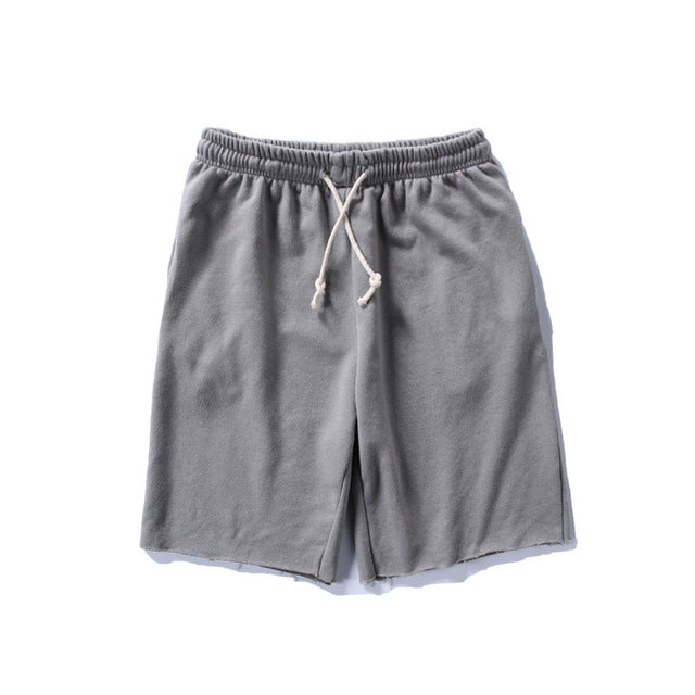 Comfort Drawstring Shorts with edgy detail