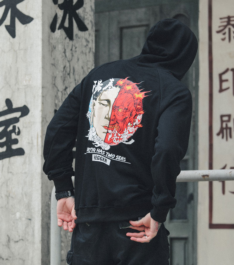Ghost Embroidery Hoodie
