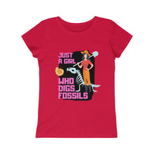 Just a Girl Who Digs Fossils, Paleontology T-shirt, Fossil Hunter T-shirt, Gift for Fossil Hunter, Gift for girls, Girls Princess Tee - Fossil Daddy