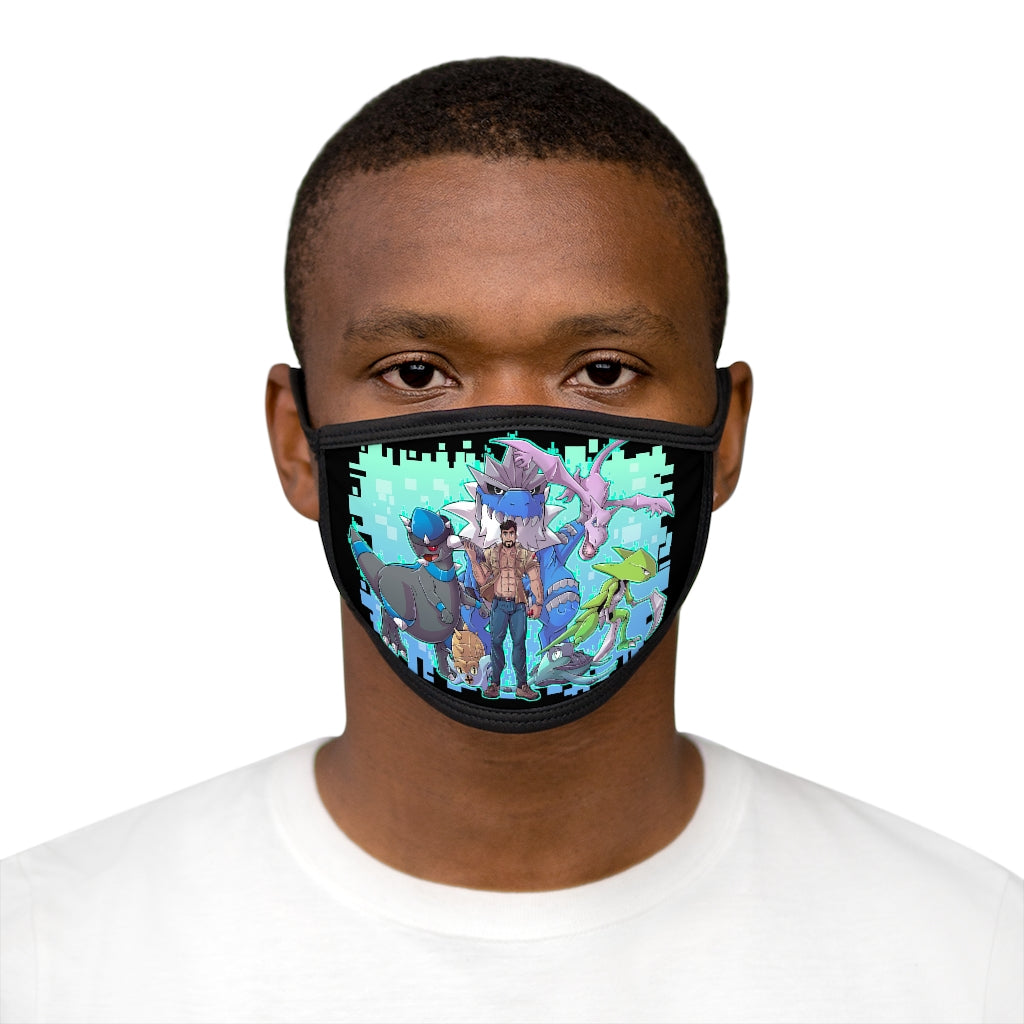 Fossil Daddy Pok'emon Team Mixed-Fabric Face Mask - Fossil Daddy