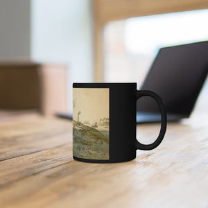 Duria Antiquior, a more ancient Dorset by Henry De la Beche, The Jurassic Coast Black mug 11oz - Fossil Daddy