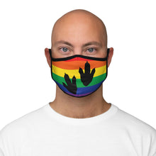 Fossil Daddy Fitted Dinosaur Tracks Gay Pride Fabric Face Mask
